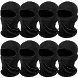 8 Pieces Sun Protection Balaclava Windproof Dustproof Balaclava UV Protection Full Face Cover for Outdoor Sports (Black)