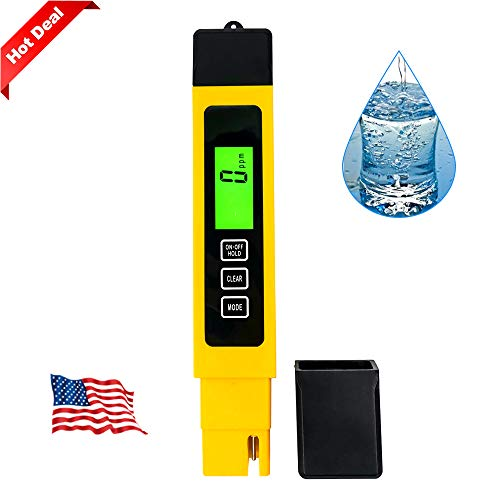 TDS Meter Digital Water Tester, Professional TDS/EC/Temperature Meter 3-in-1, Accurate and Reliable, Measure 0-9990ppm, Ideal for Drinking Water, Aquariums, Swimming Pools etc.