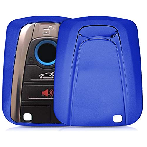 kwmobile Key Cover Compatible with BMW - Blue High Gloss