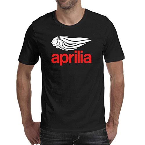 Tops Casuales Camisetas Hombre Algodón Aprilia-motocicleta-logo1- Camisetas Transpirables Camisetas de Manga Corta con Cuello Redondo