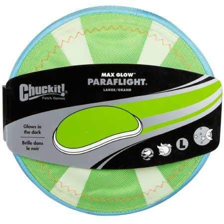 Chuckit! Paraflight hondenspeelgoed, Large, Max Glow