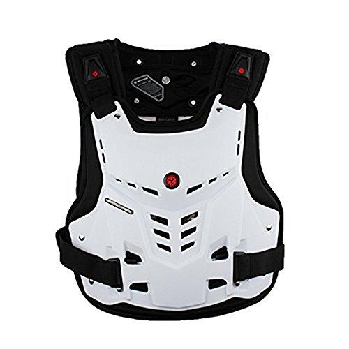 ZzheHou Motorrad-Schutzjacke Schutzjacke Sport Motocross Mountainbike Racing Ganzkörperschutzausrüstung Motorrad-Schutzkleidung (Color : White, Size : M)