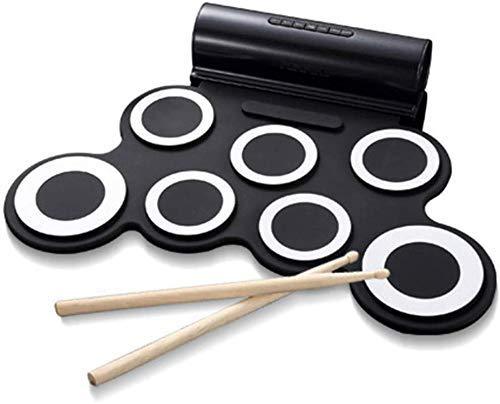 Mano redoble de tambor, tambor electrónico portátil - plegado tambor USB -...