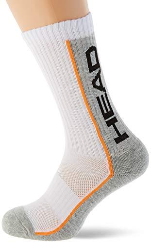 Head Performance Crew Socks (3 Pack) Calcetines de tenis, Blanco/Gris, 35/38 (Pack de 3) Unisex adulto 🔥