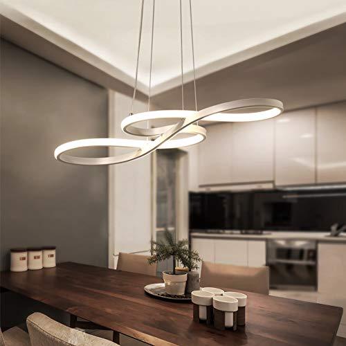 HAITOY Lámpara De Araña Lineal Contemporánea, 58 W Iluminación Colgante LED Blanca/Cálida, Símbolo De La Música Diseño, Luz De Techo Acrílicos Tridimensionales, Ahorro De Energía