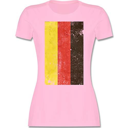 Handball WM 2021 - Deutschland Flagge Vintage - XL - Rosa - Deutschland - L191 - Tailliertes Tshirt für Damen und Frauen T-Shirt