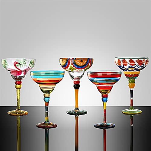 5 PCS Hecho a Mano Copa de cócteles Copa Europa Copa Copa de Champagne Copa Creativa Copas de Vino Bar Party Party Webware Wedding Gifts 719 (Color : A1)