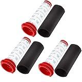 Isincer 6 filtros lavables de 3 varillas + 3 filtros de espuma para...