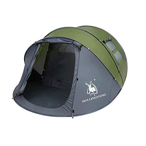 outdoor product Wirf EIN Zelt Sofortzelt, 4-6 Personen Familiencamping Tunnelzelte, Tragbares Bergsteigen-Trekkingzelt im Freien, Wasserdichtes und UV-geschütztes Kuppelzelt Feiertags-Partyzelt