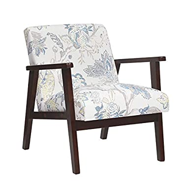 SONGMICS Leisure Chair with Solid Wood Armrest and Feet, Mid-Century Modern Accent Sofa, for Living Room Bedroom Studio…