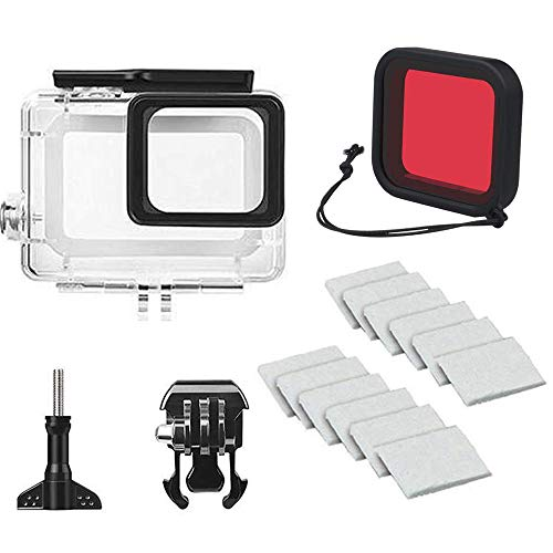 Linghuang - Carcasa Impermeable para GoPro Hero 7 (45 m), Color Blanco