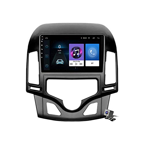 Android 8.1 GPS Navegación del Coche Estéreo para Hyundai i30 2006-2011, con 9 Pulgada Pantalla, Soporte Reproductor Multimedia/Control del Volante/Mirror Link,AC,4G+WiFi: 1+16GB