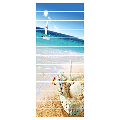ZDDBD Pegatinas Adhesivos Autoadhesivos para Escaleras Cocina Piso Baño Decoración Vintage Multicolor Multi-Estilo Hogar Impermeable Extraíble Etiqueta De Pared 18 * 100Cm * 13Pcs- Cesta De Bambú