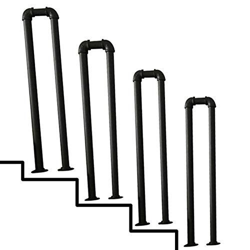 KUNYI Schmiedeeisen Treppenhandlauf, U-förmige Verzinkte Wasserrohr Form-Sicherheitsgeländer Starke Tragfähigkeit geeignet for Treppen Korridor (Size : 85cm)