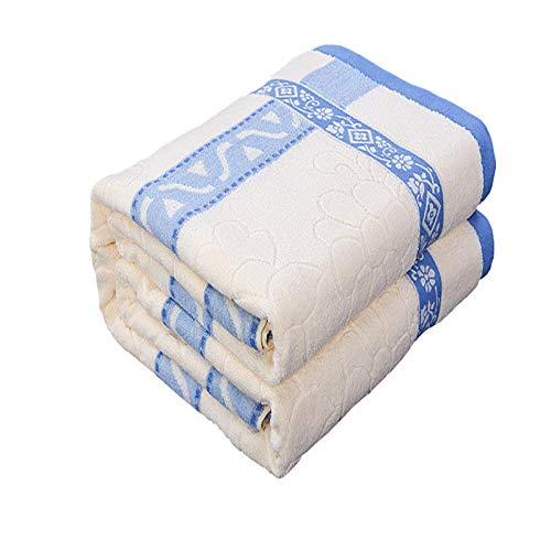 OOFAY Manta de Picnic,Manta de Hilo de algodón, edredón de Toalla, Manta Doble Individual, edredón Fresco de Verano-Azul_150x200cm