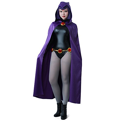 miccostumes Women's Rachel Purple Cloak Black Bodysuit Cosplay Costume (Women s)