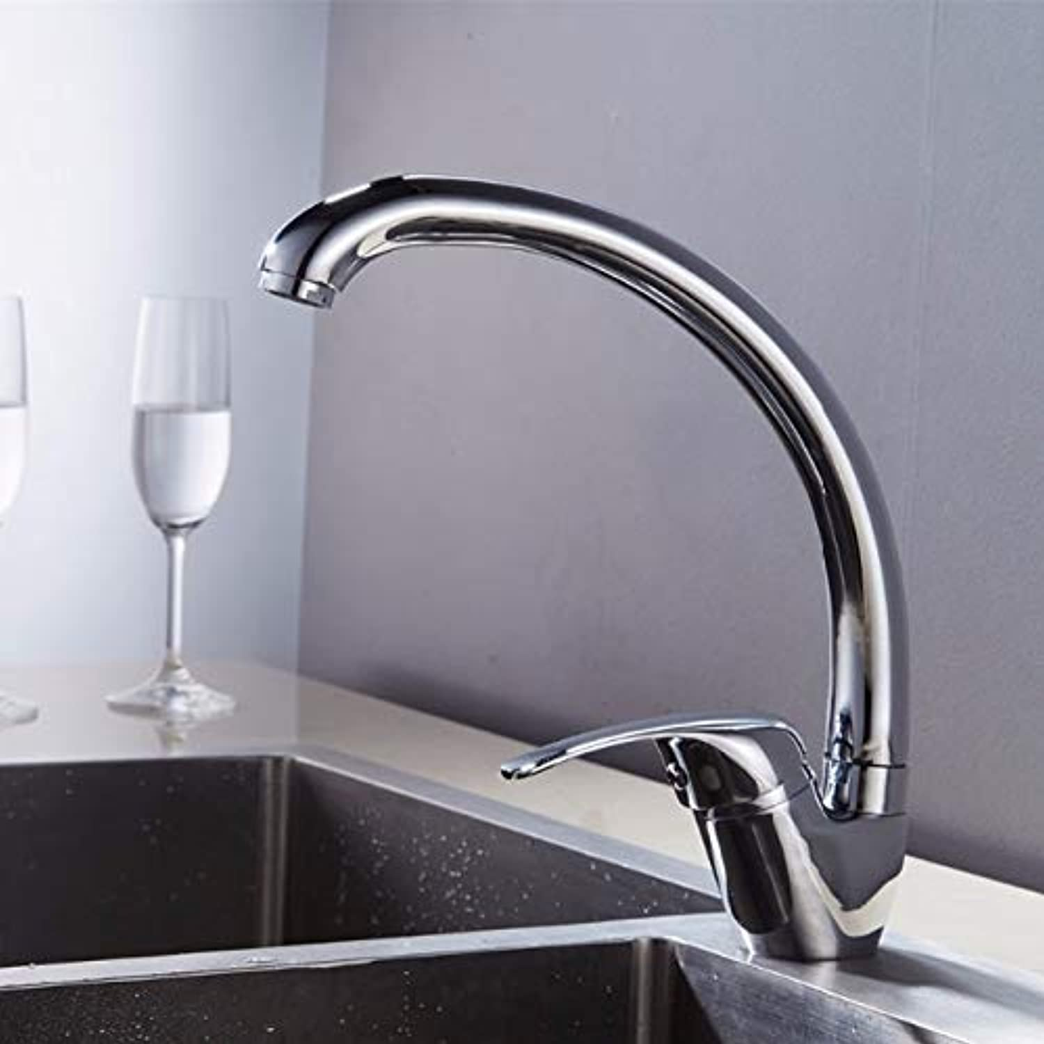 Decorry New Modern Style Home Multi-color Black Chrome color Kitchen Faucet Cold and Hot Water Tap Single Handle Kitchen Faucet Pl003