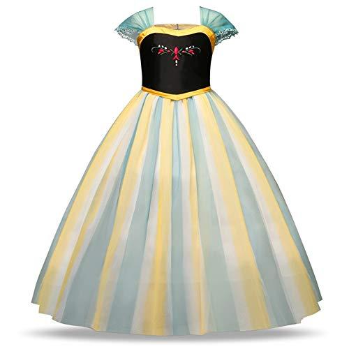Yamyannie Vestido de Nios El Traje Bordado de Las Muchachas del Vestido de la Princesa de Tul de Lujo del Partido de Cosplay del Vestido hasta Navidad para el Baile de Graduacin