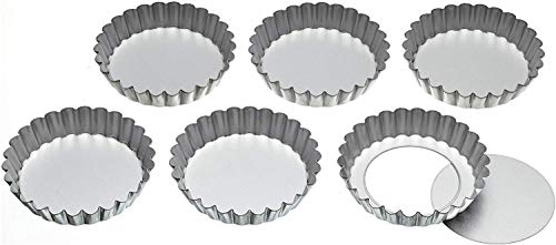 Kitchen Craft Backform aus Aluminium mit Hebeboden, 6 Stück