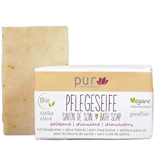 Manufaktur Pur Bio Sheabutter-Naturseife Nelke Lemongrass Zitronengras Anis 100 g