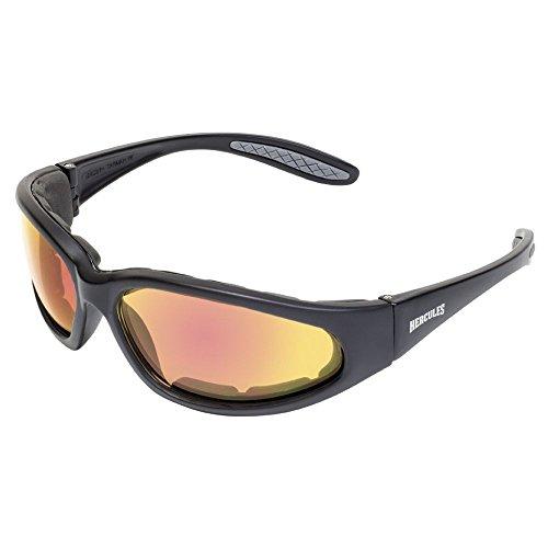 Global Vision Eyewear 24 HERC 1 PL GTR A/F Hercules 1 Plus 24 Anti-Fog Sunglass, Photochromic Red Lens, Black