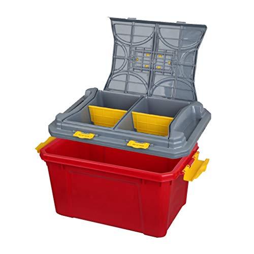 Coffre de Voiture Organisateur Boîte de Rangement pour Voiture Arrimage et Rangement Brilliant Firm (Color : Red, Size : 50 * 30 * 30cm)