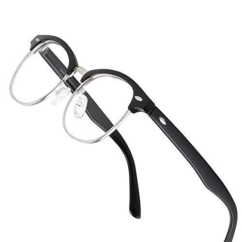 Cyxus Gafas Luz Azul para Mujer Hombre, Gafas Medio Marco Anti-Luz Azul para Ancla de internet para Ordenador, Juegos etc, Hombre y Mujer