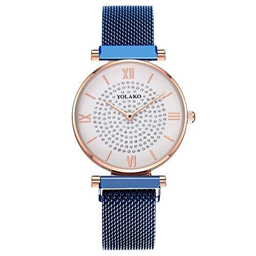 Relojes Para Mujer Gypsophila Superficie Mujeres Relojes De Moda Imán Hebilla Correa Elegante Diamante Ladies Relojes De Pulsera Mujer Reloj De Cuarzo Femenino Relojes Decorativos Casuales Para Niñas