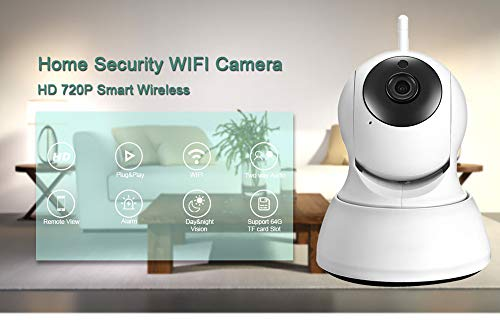 Security Camera WiFi IP Camera - BESDER HD Home Wireless Baby/Pet Camera with Cloud Storage Two-Way Audio Motion Detection Night Vision Remote Monitoring,White (White)