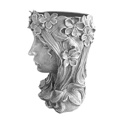 YARNOW Kopf Gesicht Pflanzer Niedlichen Menschlichen Kopf Gesicht Harz Blumentopf Vase Sukkulenten Kaktus Pflanzer für Garten Indoor Outdoor