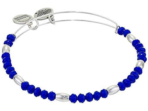 Alex and Ani Balance Bead II Bracelet Royal Blue 1 One Size, Shiny Silver, A20BBEAD05SS, A20BBEAD05SS, A20BBEAD05SS, A20BBEAD05SS