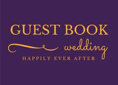Guest Book: Gold Yellow Purple Classic Paperback Soft Cover Sign-In Registry for Weddings & more