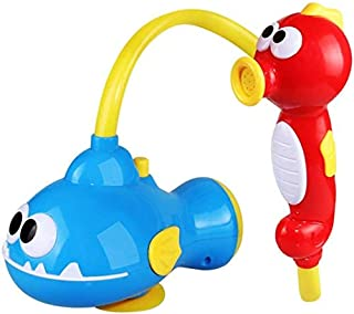 Zpong Baby Bath Toy Electric Seahorse Whale Water Spray Shower Toy Bathtub Spray Water Pump Tool Play Bath Toy Kids' Water...