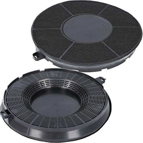 2x Aktivkohlefilter für Dunstabzugshaube geeignet als Alternative für Kohlefilter 9029800506 + 9029793610 + Type 48, für Dunstabzug u.a. von AEG, Electrolux, Bosch, Siemens, Bauknecht, Whirlpool, Ikea