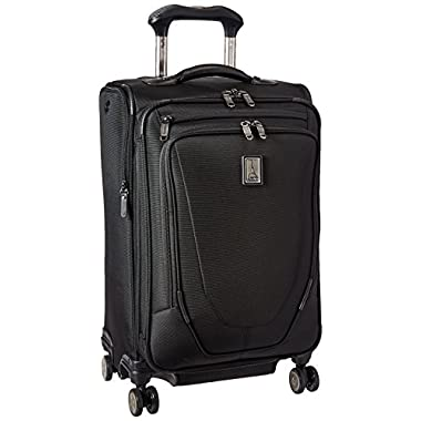 Travelpro Crew 11 21  Expandable Spinner Carry-on Suiter Suitcase, Black