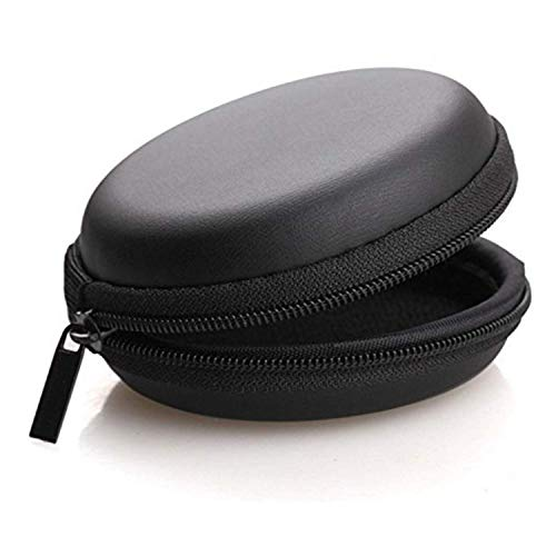 Ionix Earphone case   Headphone case   Earphone Pouch   Earphones case   Headphone Pouch  Eearphone Cover, Carrying Case for Earphones, Headset, Pen Drives, SD Cards, All Mobile Accessories (Black)