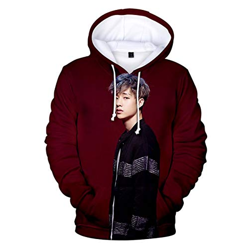 ZIGJOY Unisex Stray Kids Kaputzenpullover Kpop 3D-Druck Sweatshirt Clé1:MIROH Pullover Han Hyunjin Felix für Fans 2754 XL