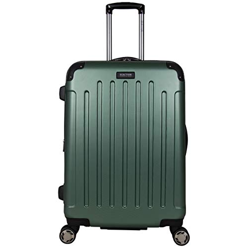 "Kenneth Cole Reaction Renegade 24"" Lightweight Hardside Expandable 8-Wheel Spinner Checked-Size Luggage, Cilantro, inch"