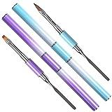 HQdeal 2 in 1 Dual-ended Nail Art Penna, Polygel Brush & Picker, Spazzola per Unghie UV Gel, Pennelli per unghie a Doppia estremità, Strumenti per Nail Art, per Estensione delle Unghie