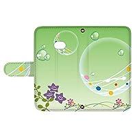 スマQ BASIO4 KYV47 国内生産 ミラー スマホケース 手帳型 KYOCERA 京セラ ベイシオ4 【E.グリーン】 和夏 水風船 ami_vd-0260