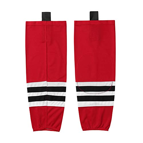 EALER HS100 Series Team Color Dry Fit Calcetines de hockey sobre hielo, Xw003#rojo, XSmall(20-22inch)