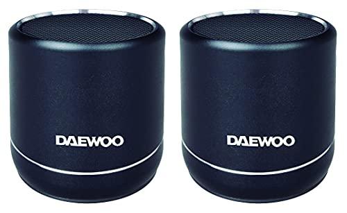 DBT-212 B 2 Altavoces TWS Bluetooth de pequeño tamaño y Gran Potencia Daewoo