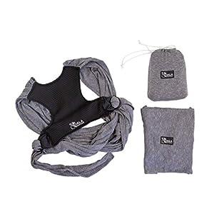 41H9WfFYY3L. SS300  - Koala Babycare® - Fular Portabebés fácil de usar (fácil de colocar), unisex ajustable, la mochila portabebes multiusos…