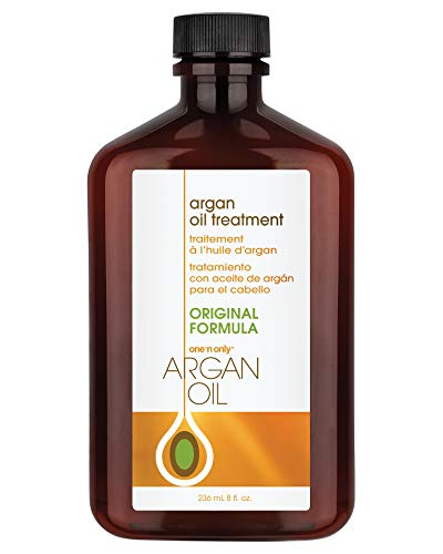 One 'n Only Argan Oil Hair Treatment, Helps Smooth and Strengthen Damaged Hair, Eliminates Frizz, Creates Brilliant Shines, Non-Greasy Formula, 8 Fl. Oz