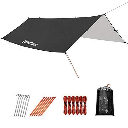 KingCamp Rain Fly Tarp-Lightweight, Portable, Waterproof and UV-Resistant Camping Tent Tarp Perfect...
