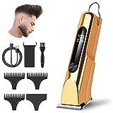 Cortapelos Hombre, Maquina cortar Cabello de cabello inalámbrica T-Blade, cortadora de cabello inalámbrica recargable por USB para hombres con 3 peines guía, juego de estilo de salón