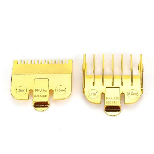 Universele opzetkam voor Wahl-tondeuse, 1,5 mm 4,5 mm Professionele roestvrijstalen snijgeleider-kamenset(Goud)
