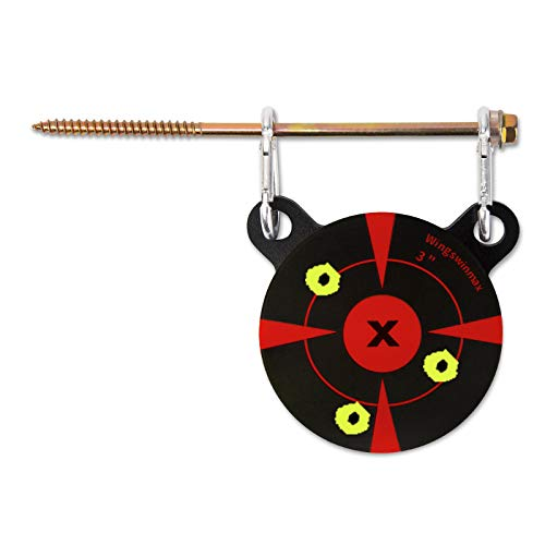 wingswinmax Hanging Target 1/5quot Thick 3quot Air Gun Target with Slpatter Target Stickers ScrewedType Airsoft Target BB Gun Target Slingshot Target Practice 3quot