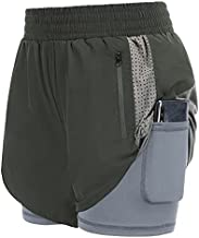 JACK SMITH Women Stretch Lounge Travel Shorts Elastic Waist Comfy Loose Active Shorts with Liner Pockets Gym Exercise Dark Grey XXL