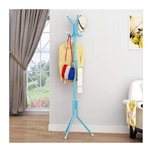 LYLY Perchero 9/12 Ganchos 32 mm Perchas Hat Coat Rack Pantalla Permanente Rack Ropa Hanger Dormitorio Ropa Organizador Muebles Mueble (Color : Blue, Specification : 9hooks)